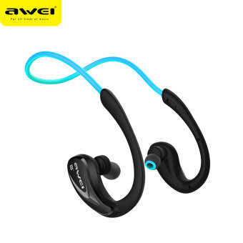 Awei หูฟังบลูทูธ สำหรับออกกำลังกาย Super BASS กันเหงื่อ กันน้ำ Bluetooth Sports Headphones รุ่น A880BL(สีดำฟ้า)
