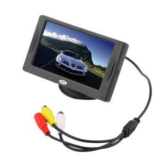 โอ้ 4.3 แอลซีดีมอนิเตอร์ TFT สีรถถอยกล้องซะ DVD แบล็คไลท์เทปกล้องวงจรปิด