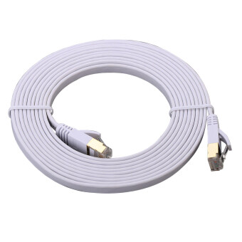 Harga Ultra-slim Flat Type Cat.7 High-Speed LAN Cable สายแลน CAT 7 2M (White )