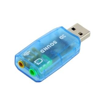 โอ้ USB 1.1 ไมค์/ปิดลำโพงเสียง 7.1 เครื่องบิน 3D การ์ดเสียงอะแดปเตอร์สำหรับเครื่องพีซี