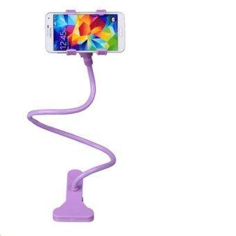 ขาจับมือถือ ที่หนีบสมาร์โฟน iphone samsuang แท่นวางไอโฟน แบบหนีบ- Purple