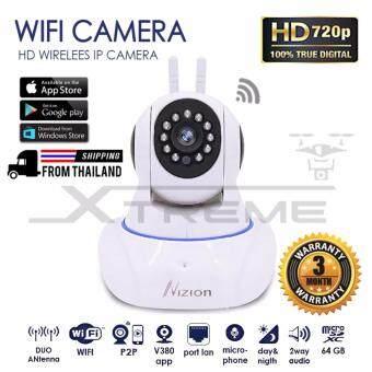 ข้อมูล Xtreme P2P CCTV กล้องวงจรปิดไร้สาย IP Camera / ความละเอียด1.3 ล้านพิกเซล / HD 720P / ติดตั้งง่ายด้วยระบบ Plug And Play / มีเสาสัญญาณ 2 เสา / สามารถจับภาพในที่มืด / มีไมโครโฟนและลำโพงในตัว นำเสนอ