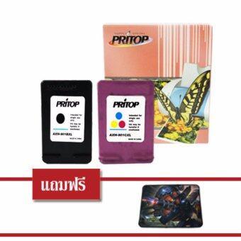 Pritop HP ink Cartridge 901BK-XL/901CO-XL ใช้กับปริ้นเตอร์ HP Office Jet J4580/J4580AiO/J4640/J4640AiO/J4680/J4680AiO แถมแผ่นรองเมาส์ 1 แผ่น