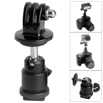 Harga Fat Cat Ball Head Hot Shoe Adapter for GoPro, SJ4000, SJ 5000, Xiaoyi - intl