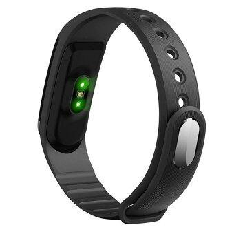 Person นาฬิกาสุขภาพอัจฉริยะ ติดตามกิจกรรม วัดอัตราการเต้นหัวใจ ฟิตเนส Heart Rate Monitor Bluetooth Smart Wristband Watch รุ่น ID101HR Activity Tracker (Black)
