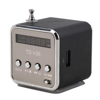 โอ้แบบพกพาสเตอริโอมินิยูเอสบีไมโครเอสดี ถ้าเขาเล่นเพลงวิทยุ fm เครื่องลำโพง MP3/4 สีดำ-ระหว่างประเทศ
