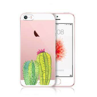 AFTERSHOCK TPU Case iPhone5 / 5S / SE (เคสใสพิมพ์ลาย Cactus) / Thin 0.33 mm