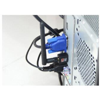 mini wifi adapter Mini USB WiFi 150Mbps Wireless Adapter 150M Computer LAN Card 802.11n/g/b with Network Card Antenna (Black) (image 2)