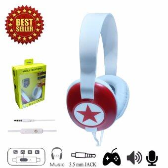 A-OAKORN M1000 Headphones Speaker Red หูฟังแบบมีสาย รุ่น M1000 สีแดง