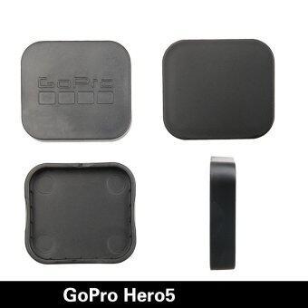 Gopro Hero 5 กล้องอุปกรณ์เครื่องป้องกันร้อนขายฝาครอบเลนส์เคสสำหรับมืออาชีพไป Hero 5 อุปกรณ์ (สีดำ)