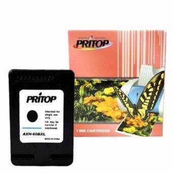 HP ink Cartridge 60/60B//60BK/CC614WA ตลับหมึกอิงค์เทียบเท่า Pritop 60XL