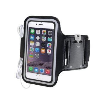 Sarabel- เคสรัดแขน สำหรับออกกำลังกาย Shield Sport Armband Case for Iphone6 ขนาด 4.7-5.2 นิ้ว (สีดำ)