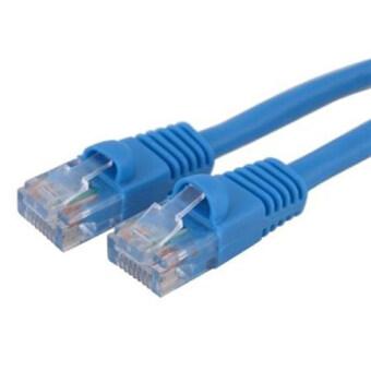 Link Cable CAT5E สายแลน เข้าหัวสำเร็จรูป 10 เมตร (สีน้ำเงิน)