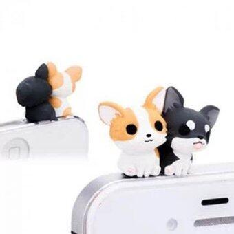 คาถาโทรศัพท์ 3.5มมฝุ่นปลั๊กสำหรับ iPhone 4 4S 5 5S 6 6s Gemini สุนัข