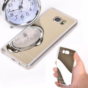 Case Samsung Galaxy Note 5เคสกระจกเงา ขอบยางLuxury Mirror Soft Clear TPU Case/Cover Gold (สีทอง)