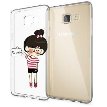 HugCase TPU เคส Samsung Galaxy A9เคสโทรศัพท์พิมพ์ลาย SO MUCH 2 เนื้อบาง 0.3 mm