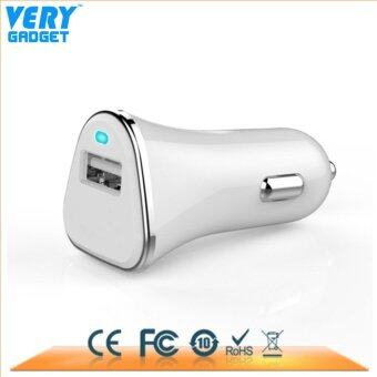 VERY GADGET QC3.0 ฟาสชาร์จ หัวชาร์ต USB มือถือในรถ สีขาว