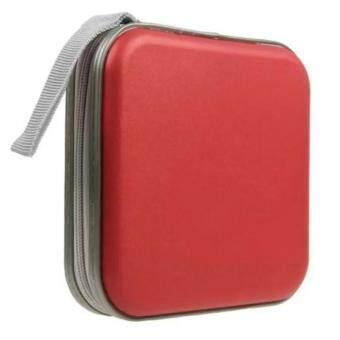 CD BAG 40 PCS/กระเป๋าใส่ซีดีแบบพลาสติกขนาด 40 แผ่น (สีแดง)