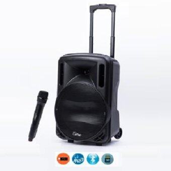 Ceflar ตู้ลำโพงขยายเสียง ล้อลาก12 นิ้ว+ไมค์ลอย USB/TF card BLUETOOTH 9000 W