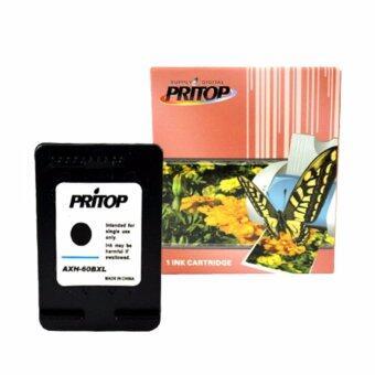 PRITOP HP ink Cartridge 60/60B/60XL/60BK-XL/CC641WA ใช้กับปริ้นเตอร์ HP DeskJet D2500, D2530, F4200/F4280/F4288 Pritop จำนวน 1 ตลับ