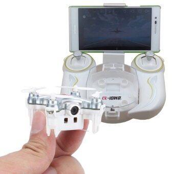 โดรน จิ๋วมีกล้อง drone ถ่ายรูปและวีดีโอได้ ควบคุมผ่านมือถือได้และมีรึโมทให้ รุ่น Cheerson CX10WD-TX silver