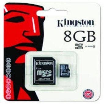 เมมโมรี่ Kingston Micro SD Card Class 4 8GB with Adapter (ของแท้)