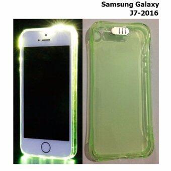 Case Samsung Galaxy J7-2016 (เคสไฟกระพริบ)(สีเขียวอ่อน)