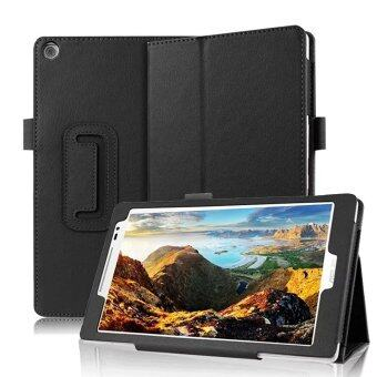 Asus ZenPad 8.0 เคส ปกหนัง pu ไลท์เคสบูธเก๋สำหรับ Asus ZenPad 8.0นิ้ว Z380C Z380CX Z380KL แท็บเล็ตสีดำ