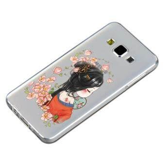 HugCase TPU เคส Samsung Galaxy A7 2015 เคสโทรศัพท์พิมพ์ลาย Nice เนื้อบาง 0.3 mm