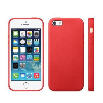 แฟชั่นหรูเจลเคส tpu ย้อนกลับครอบสำหรับ Apple iPhone 5/5S (สีแดง)