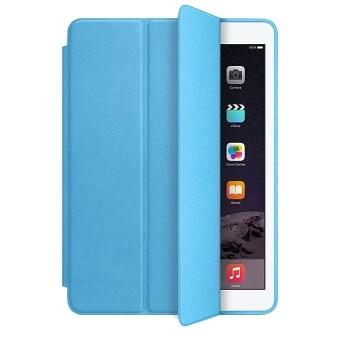 ฉลาดปิดเคสสำหรับ ipad mini 2 3 Retina fundas เคสแรกดีดปลอกหนังสำหรับ apple ยี่ห้อ ipad mini เคส (เบาสีน้ำเงิน)