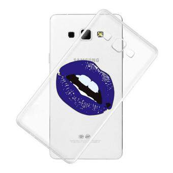 AFTERSHOCK TPU Case Samsung Galaxy J7 2016 (เคสใสพิมพ์ลาย Purple lips) / Thin 0.33 mm