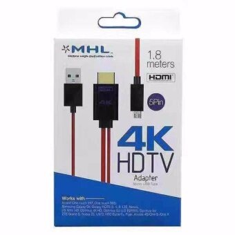 Harga SUNWAY MHL 3241 สายแปลง MHL Micro USB (5Pin) to HDMI 4K Adapter Cable for Samsung Galaxy S3/S4/S5/Note2/Note3/Note4