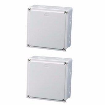 Mastersat กล่องกันน้ำ 4x4'' สำหรับงานติดตั้ง กล้องวงจรปิด หรืออุปกรณ์ไฟฟ้าอื่นๆ 2 กล่อง (White)
