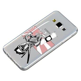 HugCase TPU เคส Samsung Galaxy A8เคสโทรศัพท์พิมพ์ลาย Warrior เนื้อบาง 0.3 mm