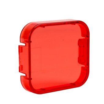 Gopro Hero 5 อุปกรณ์เลนส์ฟิลเตอร์สีส้มแดงสีเหลืองฝาครอบใต้ทะเลแผนกกล้องหมวกสำหรับ Gopro Hero 5 กล้องแอคชั่น (สีแดง)