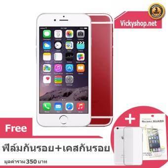 REFURBISHED Apple iPhone6 16 GB – Silver Red ฟรี ฟิล์มกันรอยและเคสกันรอย