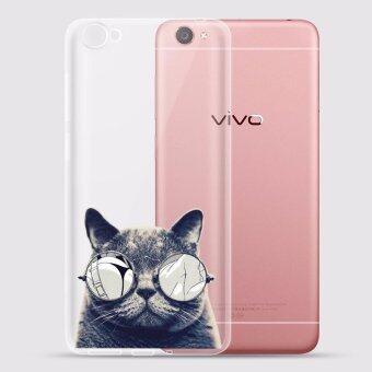 AFTERSHOCK TPU เคส vivo Y55 เคสโทรศัพท์พิมพ์ลาย Black Cat เนื้อบาง 0.33 mm