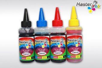 Masterink ink USA หมึกเติม Hp (สีดำ ฟ้า แดง เหลือง )ขนาด 100 ml ชุดสุดคุ้ม 4 ขวด
