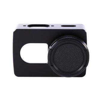 Xiaomi Yi 2 4K Gopro Aluminum Cover + Lens Cover(Without UV Lens) CNC Aluminum Frame(Black) - intl ราคาถูกที่สุด ส่งฟรีทั่วประเทศ