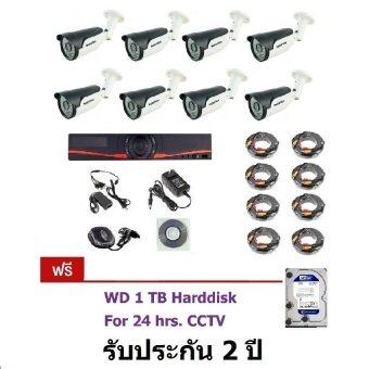 Mastersat ชุดกล้องวงจรปิด CCTV AHD 1 MP 720P 8 จุด พร้อมสายสำเร็จ และ HDD 1 TB ติดตั้งได้ด้วยตัวเอง ชุด Super Save!