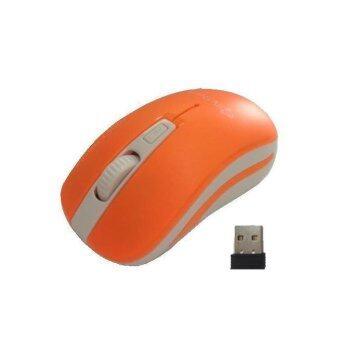 check ราคา Mcshore Wireless Mouse Blue LED เม้าส์ แม็คชอร์ รุ่น WM188OR - สีส้ม เปรียบเทียบราคา