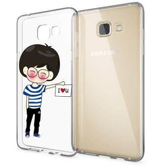 HugCase TPU เคส Samsung Galaxy A7 2016เคสโทรศัพท์พิมพ์ลาย I LOVE YOU 2 เนื้อบาง 0.3 mm