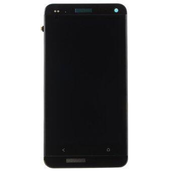 จอภาพแสดงผลจอ lcd Pantalla ดิจิทัลประกอบ+กรอบตัวเรือนสำหรับ HTC One M7-