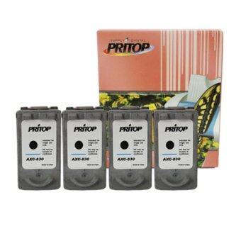 PRITOP Canon 830XL ตลับหมึกอิงค์เทียบเท่า หมึกสีดำ 4 ตลับ