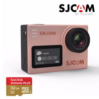 SJCAM SJ6 LEGEND 4K Action Camera พร้อมแบตเตอรี่ 1 ก้อน และ memory Sandisk Extreme 32GB- Rose Gold