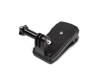 Gopro Gopro/SJCam/Xiaomi/YI 360° Rotary Nut Seat Backpack Quick Clip Clamp Mount (image 1)