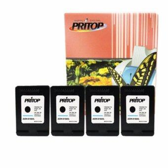 PRITOP HP DeskJet 1000,1050,1055,2050,3000,3050 ใช้ตลับหมึกอิงค์เทียบเท่า รุ่น 61/61BK/61XL/CH563WA/*4 pack Pritop