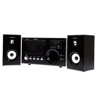 Music D.J. ลำโพง 2.1 พร้อมซัฟวูฟเฟอร์+FM+บลูทูธ รุ่น M-9100AB - (สีดำ)