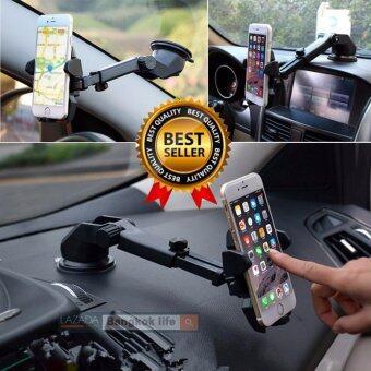awei168thai ที่ยึดมือถือในรถ Car Mobile all in 1 (ติดกระจก/ติดคอนโทรลรถ/ติดช่องแอร์/เพิ่มความยาว ) เพิ่มความสะดวกสบาย ขณะขับรถ สำหรับ มือถือ android และ ios ทุกรุ่น สีดำ